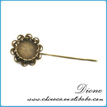 Stainless steel wholesale antiqued broned lady fancy brooch pin