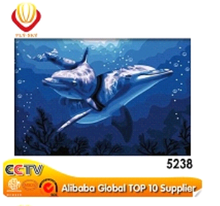 animal dolphin diy oil painting by numbers