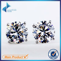 cubic zirconia single stone earring designs