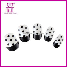 Newest french artificial nails, dot acrylic fake/false nail tips for wholesale