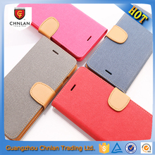 New Type Contrast Color Flip PU Wallet Leather For iphone 6 Case With Holder