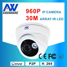 """30M Speed Dome IP Camera DC12V POE Within Cmos Image Sensor 1/3"""" 960P High Definition With Audio"""
