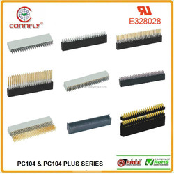 Top quality 2.54mm pitch plus sokect V/T and press- fit type PC104 connector with CE FCC certificated
