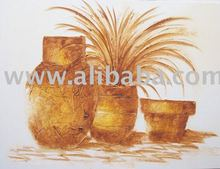 Vases in texture, acrylic painting, on canvas, handmade , 70x100cm (28x40inc), exclusive brazilian art, Available in various