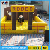 best sale inflatable rodeo bull /price mechanical bull/red and green rodeo bull