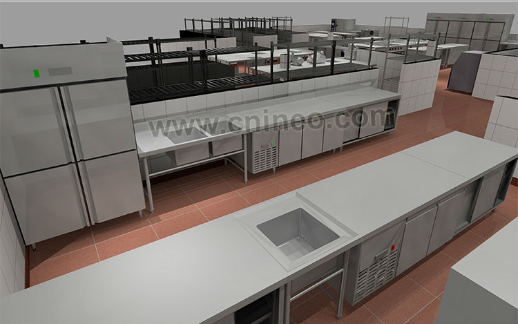 Professional restaurant and hotel kitchen design free 3d design free consultancy view kitchen - Hotel kitchen design ...