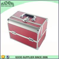 Hot beauty case hard toiletry bag makeup box aluminum woman bag