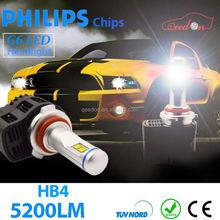 Qeedon newest product hi/lo beam universal led h4 headlight bulbs 12v conversion kit car headlights