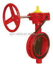 FM UL fire fighting Wafer Type Butterfly Valve with Tamper Switch