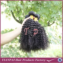 Full Cuticle Virgin European Hair Natural Dark Color No Siliconed Processed Curl Human Hair Weft
