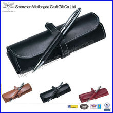Fancy PU Leather Gift Pen Set Including Pen Pouch And Single Pen