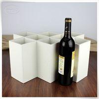 personalised pu leather double kitchen wine glass storage