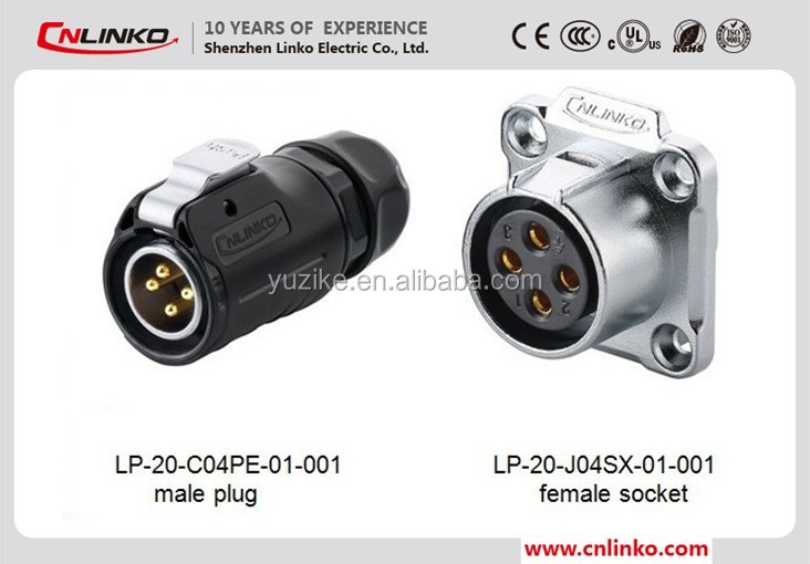 China good quality waterproof power connector multipin