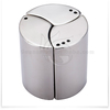 3pcs metal stainless steel salt and pepper and sugar set/shaker set