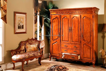 European Style High Quality Strong Solid Wood Fancy Wardrobe