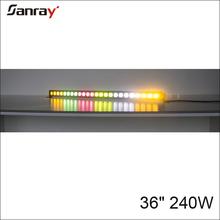 36 inch 240W single row 4D Lens LED emergency light bar for 4x4 Jeep ATV UTV