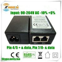 Economical 24V or 48V Desktop Type POE Adapters 48V 24V series