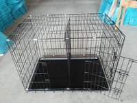metal wire dog cage with divider