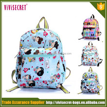 2015 China factory custom kids cartoon picture of school bag