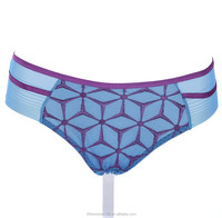 wholesale jacquard elastic blue women cotton women boyshorts panty