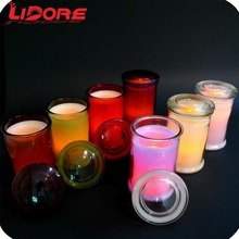 LIDORE Dry flower LED candle real wax candle with remote to control the colors