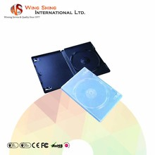 Durable single capacity PP 14mm single DVD case