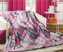 Blanket factory china simple plaid Coral Fleece Blanket/Sheet