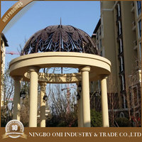 2015 New Design Decorative wrought iron dome for garden gazebo