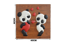 2015 new product cute style leather carve picture show pieces for home decoration