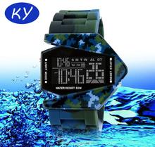 2015 Silicone Airplane LED Digital Watch Men Watches Sport Wrist Watches
