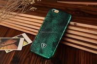 Light blue Crocodile print case, PU leather, thin design for iphone