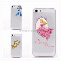 Alibaba china New arrival hot sale matte clear cartoon princess girl painting hard case for samsung note4