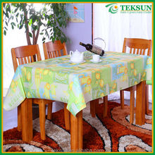 Yiwu Teksun wholesale colorful plastic pvc color printed tablecloth indian style
