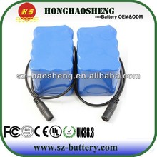 High quality 24v 6.6ah lithium ion battery pack 6600mah 6S3P with 18650 2200mah rechargeable battery cells