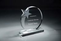 Audreyia clear K9 crystal trophy crystal award customized