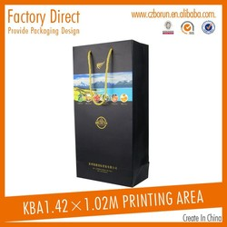 Paper carrier bag hot sell fancy paper gift bag wine kraft paper bag made in china