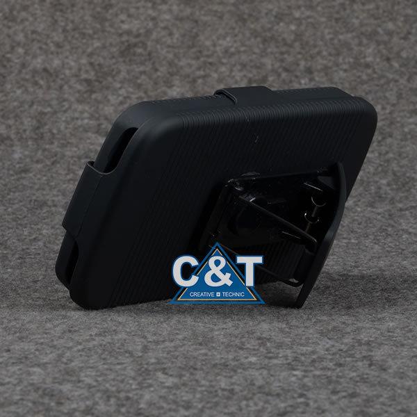 C&t o mais novo caso rígido do pc coldre stand capa para celular alcatel one touch pop c5 ot5036