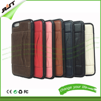 With card holder and back stand for iPhone 6 leather cell phone cases western, phone case wallet