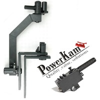 POWERKAM PTZ-3 motorized 3-axis Remote pan tilt camera head , 3 axis dutch, with controller for camera up to15kg