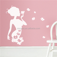 ZOOYOO Thumbelina house decors self-adhesive vinyl wallpapers flower fairy series wall stickers (8395M)