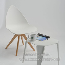 Guangdong modern clear armless white regal plastic chair manufacture