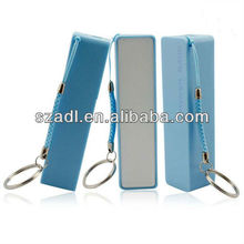 2015 hot sale Mini cute square tube 2600mAh SDL portable power source with good quality portable keychain