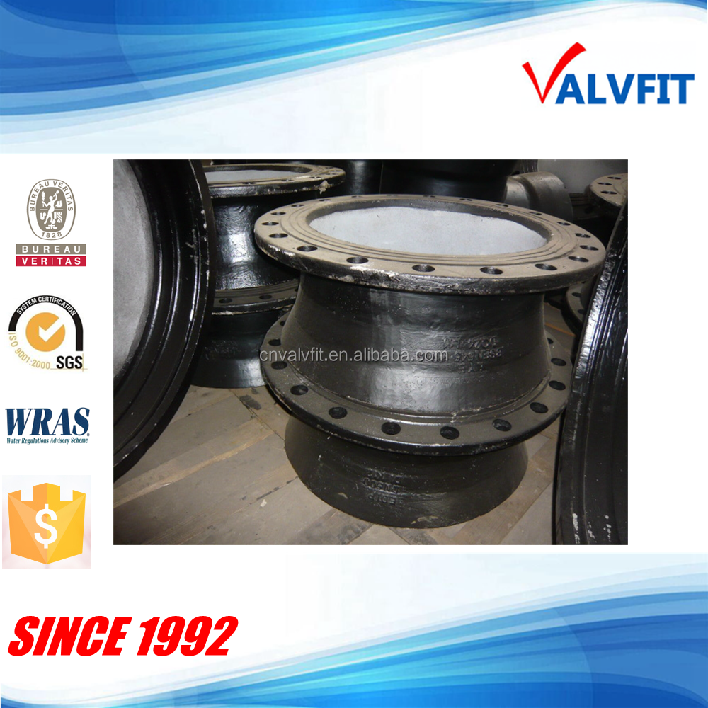 Ductile iron fittings flange bell mouth