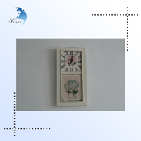 Antique London Style White Colored Photo Frame Mini Digital/Gear Decorative Wooden Pendulum Cuckoo Stand Wall Floor Clock