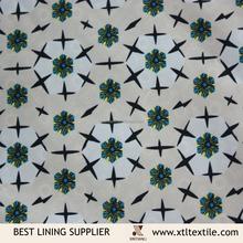 100 polyester 290t taffeta printing lining patterns
