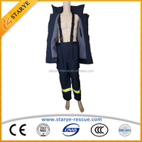 EN469 Good Quality CE Approved Fireman Used Aramid Fire Fighting Clothing