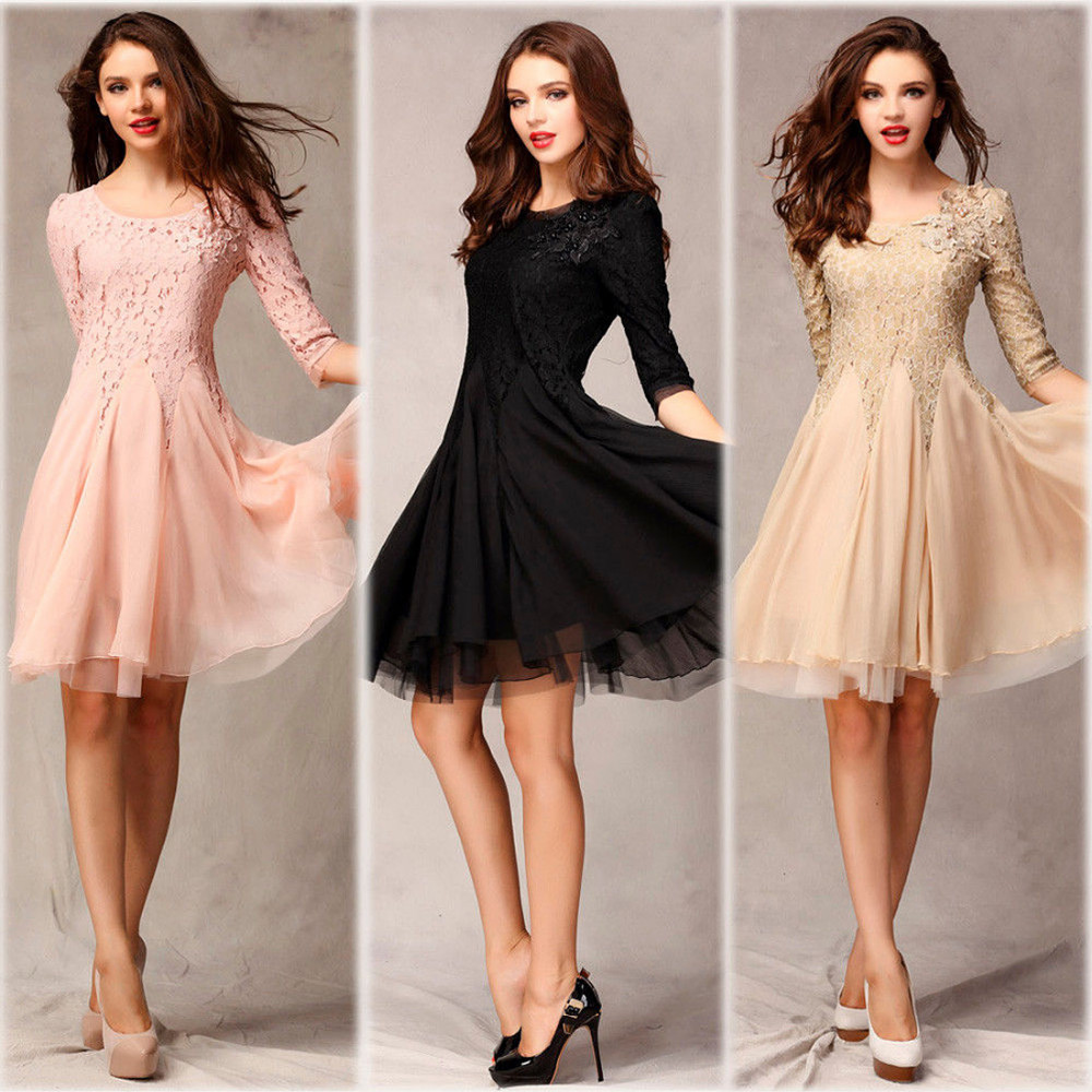 Вечерние платья по колено