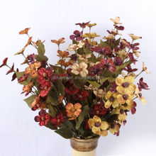 New And Fashion 1 Bouquet 21 Head Artificial flower Rose Silk Flower Leaf Home Party Wedding Decor