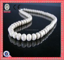 beautiful white long round beads