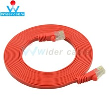 10FT Unshielded Flat Snagless CAT 5e Ethernet Cable Red Color